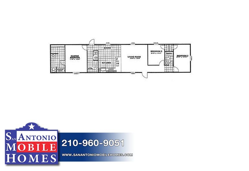 Equalizer Eqr16763a 3 Bed 2 Bath Mobile Home For Sale